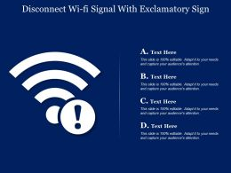 Disconnect Wi Fi Signal With Exclamatory Sign