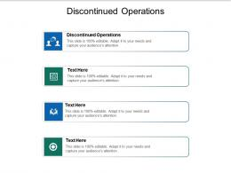 Discontinued Operations Ppt PowerPoint Presentation Visual Aids Icon Cpb