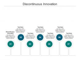 Discontinuous Innovation Ppt Powerpoint Presentation Summary Slides Cpb