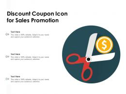 Discount Coupon Icon For Sales Promotion