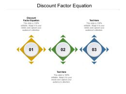 Discount Factor Equation Ppt Powerpoint Presentation Icon Graphics Download Cpb