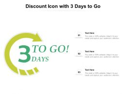 Discount Icon With 3 Days To Go