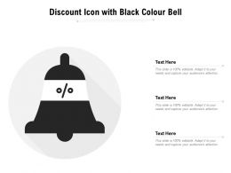 Discount Icon With Black Colour Bell