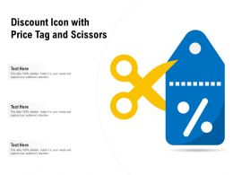Discount Icon With Price Tag And Scissors