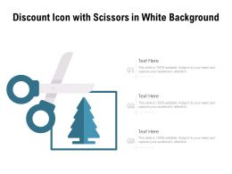 Discount Icon With Scissors In White Background