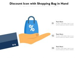 Discount Icon With Shopping Bag In Hand