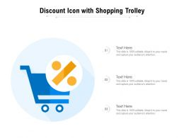 Discount Icon With Shopping Trolley