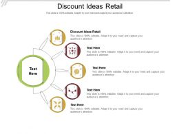 Discount Ideas Retail Ppt Powerpoint Presentation File Visual Aids Cpb