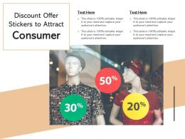Discount Offer Stickers To Attract Consumer