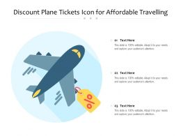 Discount Plane Tickets Icon For Affordable Travelling