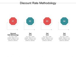 Discount Rate Methodology Ppt Powerpoint Presentation Gallery Outline Cpb