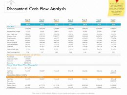 Discounted Cash Flow Analysis M3147 Ppt Powerpoint Presentation Styles Display