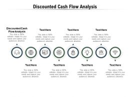 Discounted Cash Flow Analysis Ppt Powerpoint Presentation Show Information Cpb