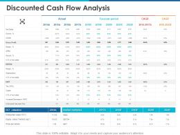 Discounted Cash Flow Analysis Ppt Powerpoint Presentation Template
