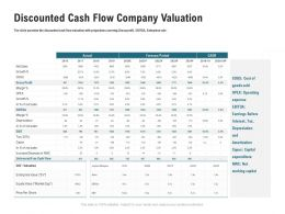 Discounted Cash Flow Company Valuation M3353 Ppt Powerpoint Presentation Ideas Good