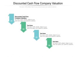 Discounted Cash Flow Company Valuation Ppt Powerpoint Presentation Layouts Graphic Tips Cpb