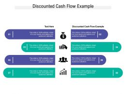 Discounted Cash Flow Example Ppt Powerpoint Presentation Visual Aids Example 2015 Cpb