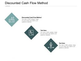 Discounted Cash Flow Method Ppt Powerpoint Presentation File Gallery Cpb