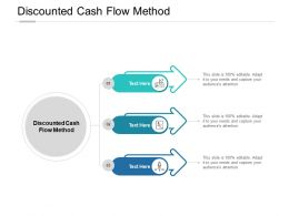 Discounted Cash Flow Method Ppt Powerpoint Presentation Show Master Slide Cpb