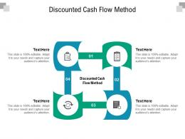 Discounted Cash Flow Method Ppt Powerpoint Presentation Styles Graphic Tips Cpb