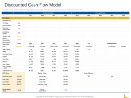Discounted Cash Flow Model Ppt Powerpoint Presentation Infographic Template Good