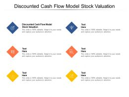 Discounted Cash Flow Model Stock Valuation Ppt Powerpoint Presentation Pictures Outfit Cpb
