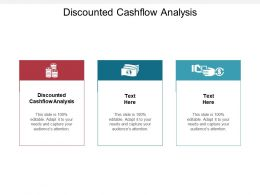 Discounted Cashflow Analysis Ppt Powerpoint Presentation Slides Summary Cpb