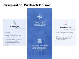 Discounted Payback Period Ppt Powerpoint Presentation File Model