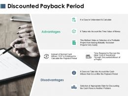Discounted Payback Period Ppt Powerpoint Presentation Styles