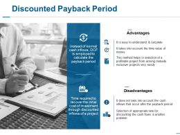 Discounted Payback Period Ppt Slides Background Images