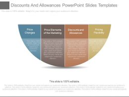 Discounts And Allowances Powerpoint Slides Templates