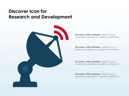 Discover Icon For Research And Development