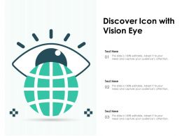 Discover Icon With Vision Eye