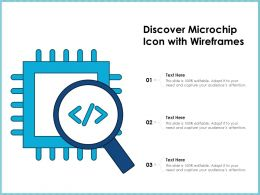 Discover Microchip Icon With Wireframes