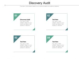 Discovery Audit Ppt Powerpoint Presentation Summary File Formats Cpb