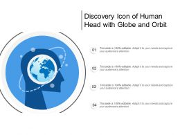 Discovery Icon Of Human Head With Globe And Orbit