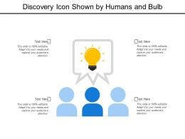 Discovery Icon Shown By Humans And Bulb