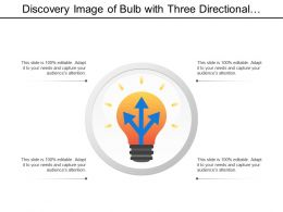 Discovery Image Of Bulb With Three Directional Arrows
