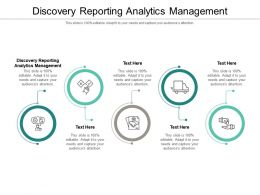 Discovery Reporting Analytics Management Ppt Powerpoint Presentation Gallery Elements Cpb