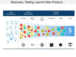 Discovery Testing Launch New Product Development Table With Icons