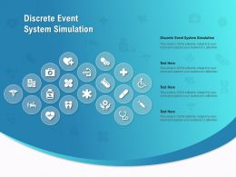 Discrete Event System Simulation Ppt Powerpoint Presentation Model Example