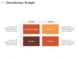 Discretionary Budget Ppt Powerpoint Presentation File Ideas Cpb