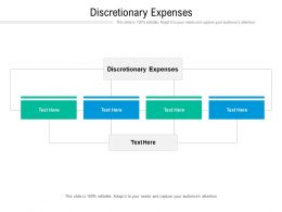 Discretionary Expenses Ppt Powerpoint Presentation Styles Cpb
