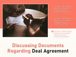 Discussing Documents Regarding Deal Agreement