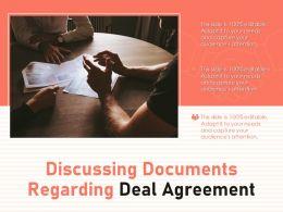 Discussing Documents Regarding Deal Agreement