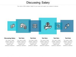 Discussing Salary Ppt Powerpoint Presentation Inspiration Slides Cpb