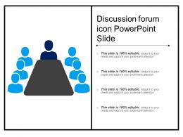 Discussion Forum Icon Powerpoint Slide