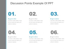 Discussion Points Example Of Ppt