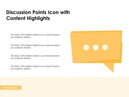 Discussion Points Icon With Content Highlights