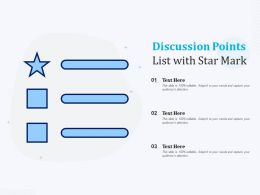 Discussion Points List With Star Mark